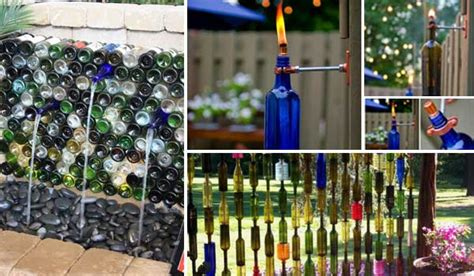 Cute Bathroom Decorating Ideas by 19 Easy Diy Ideas Decorate Outdoor Space With Wine Bottles