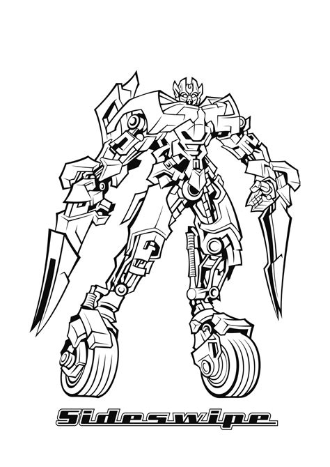 sideswipe transformers coloring pages coloring pages