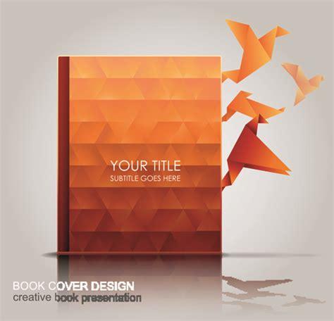 layout book vector creative book with origami birds design vector 03 vector
