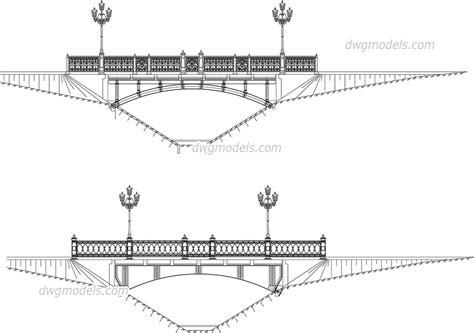 street lights cad blocks free download bridge with street lights elevation dwg free cad blocks