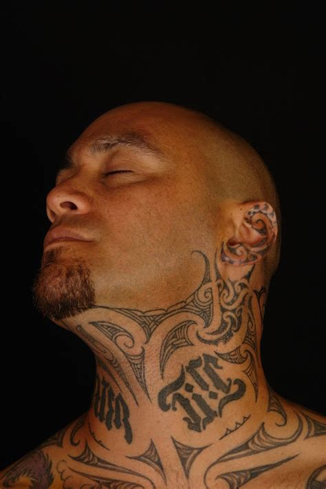 tribal neck tattoos for men 63 realistic tribal neck tattoos