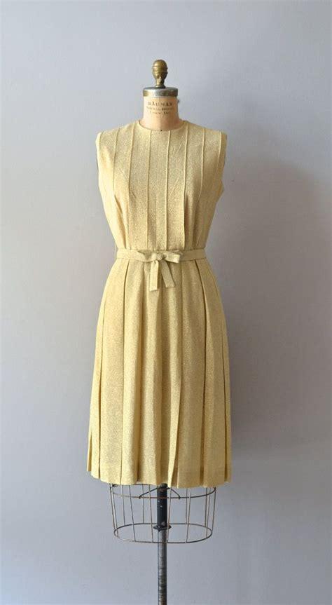 vintage 60s dress metallic 1960s cocktail dress