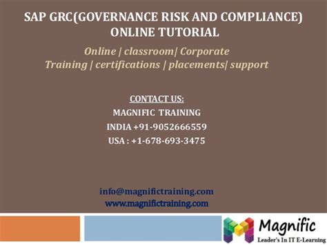 sap grc tutorial sap grc governance risk and compliance 10 online tutorial