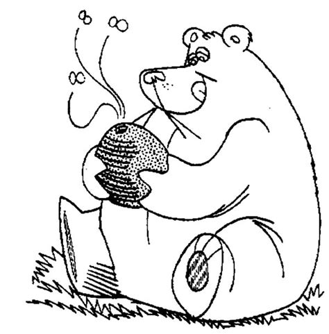 honey bear coloring pages honey bear full stomach with honey coloring pages honey