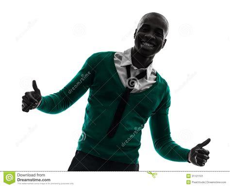 imagenes negro hombre pulgar sonriente africano del hombre negro encima de la
