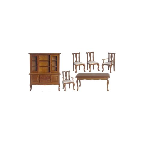 6 pc walnut dining room set dollhouse dining room sets