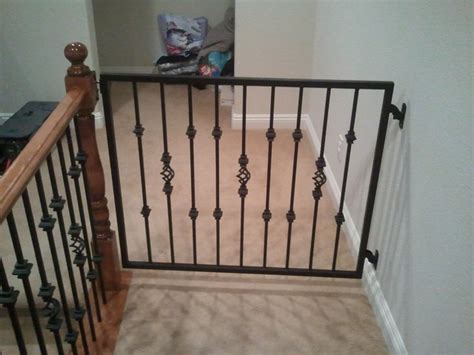 Top Of Stairs Banister Baby Gate Baby Gates Traditional Staircase Las Vegas By Jd