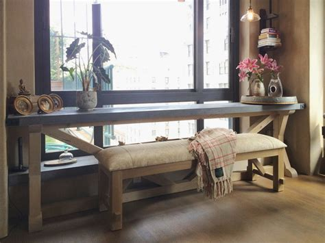 Window Sill Table Concrete Console Table And Window Sill Transitional