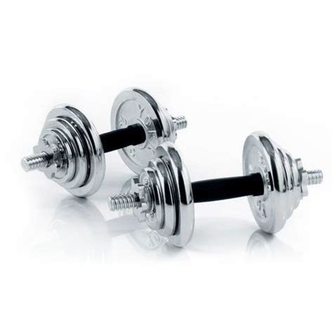 Dumbell 20 Kg York 20kg Chrome Dumbbell Set Sweatband