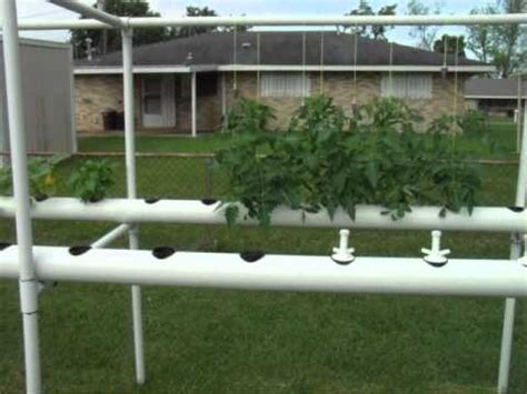 backyard hydroponics system diy backyard hydroponics system made from pvc pipe do it yourself at home com