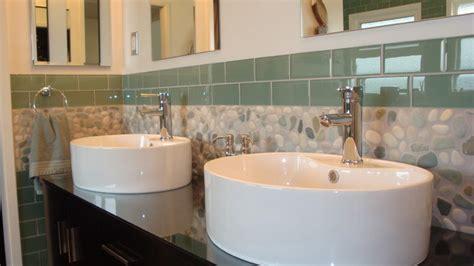 sage green glass subway tile 3x6 for backsplashes showers ocean mix pebble tile and 3x6 sage green glass subway tile