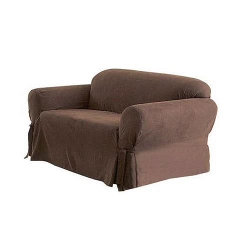 brown loveseat cover solid suede couch cover 3 pc slipcover set sofa loveseat