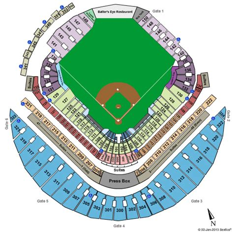 what is the seating capacity of tropicana field tropicana field seating map