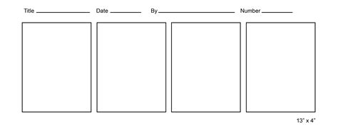 four panel comic template printable comic template