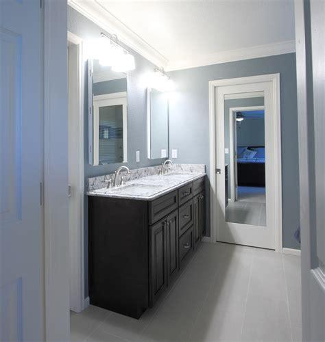 Space Saving Shower Bath from builder blah to beautiful stapleton master bath
