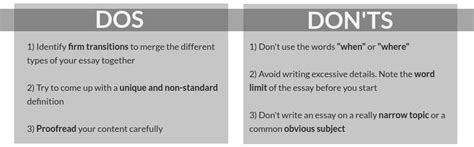 Dos And Don Ts Of Essay Writing definition essay a powerful guide to writing an excellent paper