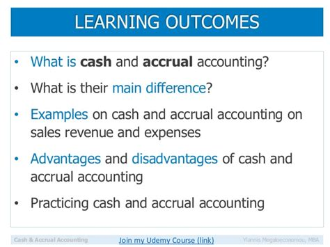 Mba Course Outcomes by Learn Finance Accrual And Accounting