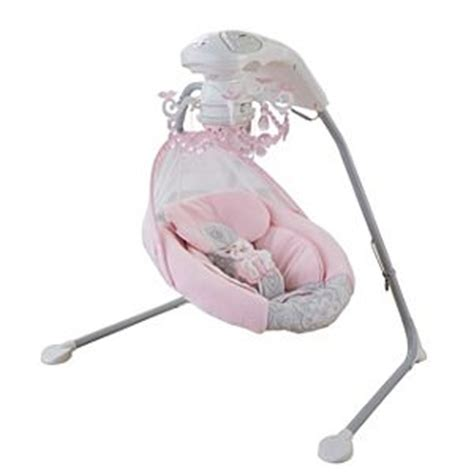 pink fisher price cradle swing rose chandelier cradle n swing mattel