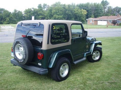 how to work on cars 2001 jeep wrangler user handbook find used 2001 jeep wrangler sahara sport utility 2 door 4 0l 39k excellent condition in saginaw