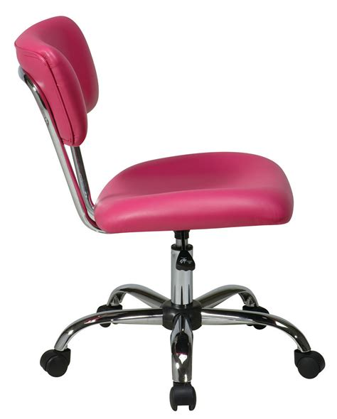 Pink Swivel Desk Chair by Vista Task Chair Pink Desk Swivel Office Chair Chrome