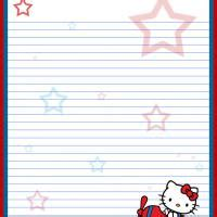 free printable hello kitty lined paper 7 best images of hello kitty printable paper free