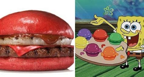 spongebob colored patties burger king japan is attempting to replicate spongebob s