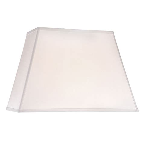 white rectangle l shade white linen rectangle l shade with spider assembly