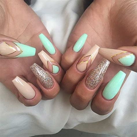 Nail Style Ideas by 50 Coffin Nail Designs Nenuno Creative