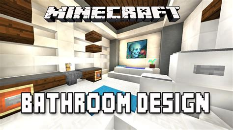 how to build a bathroom in minecraft minecraft tutorial how to make a modern bathroom design modern house build ep 16