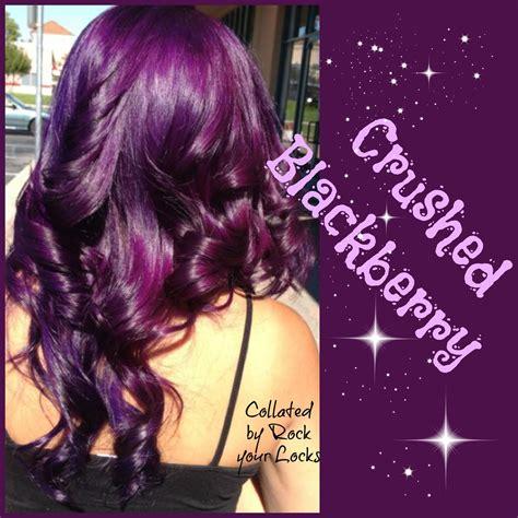 blackberry color crushed blackberry hair colour inspiration purple hair