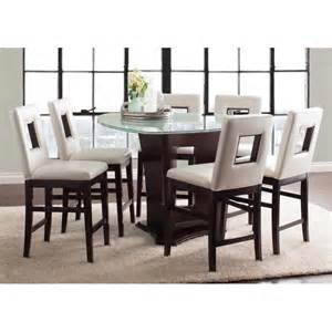 7 piece counter height dining room sets soho espresso 7 piece counter height dining set