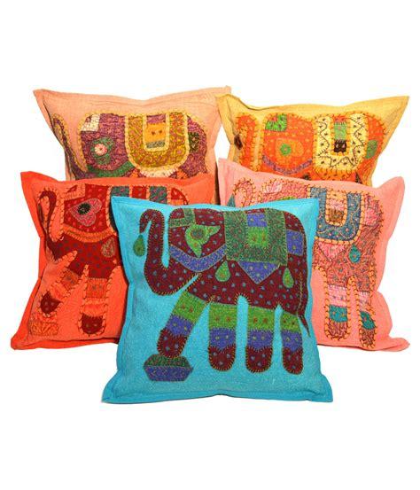 Patchwork Cushion - stitched elephant patchwork cushion cover 5 set