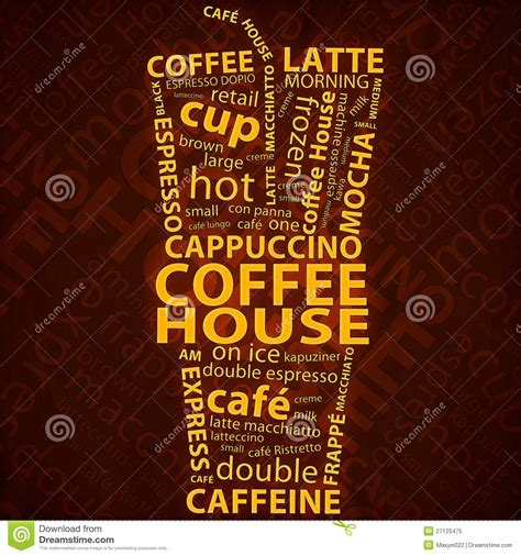 coffee poster wallpaper coffee background royalty free stock photo image 27125475