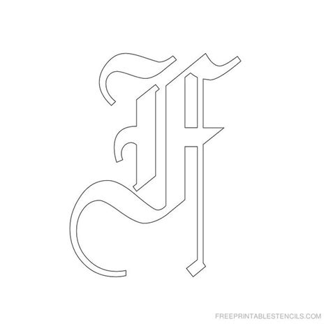 printable old english alphabet stencil d crafts 40 best alfabeto stencil images on pinterest free