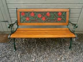 wood and cast iron garden benches antiques atlas cast iron wooden garden bench