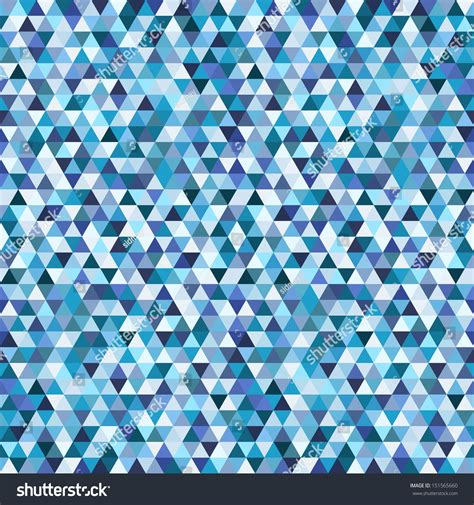 blue triangle pattern vector background geometric mosaic seamless pattern blue triangle stock