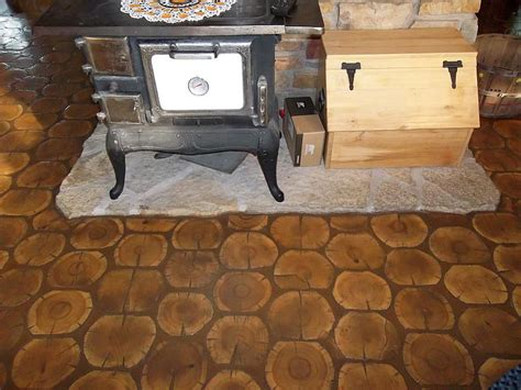 log floor cordwood flooring cordwood construction