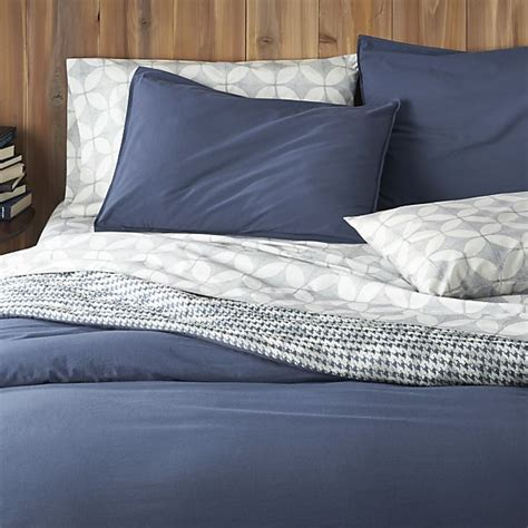 And Blue Duvet Covers Tiago Stonewash Blue Duvet Covers And Pillow Shams Crate