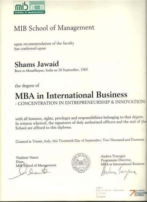 Mib Mba Delhi by Mib Mba Certificate