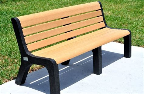 plastic bench recycled plastic malibu bench benches site furnishings