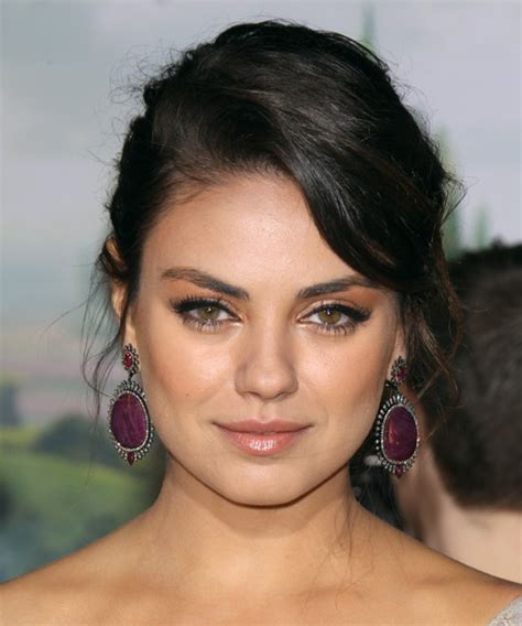 casual updo hairstyles front n back the gallery for gt mila kunis updos