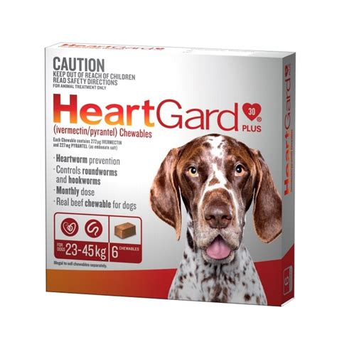 heartgard for dogs heartgard plus chew for large dogs brown 6pk petbarn