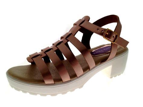 chunky gladiator sandals gladiator t bar sandals chunky block heels