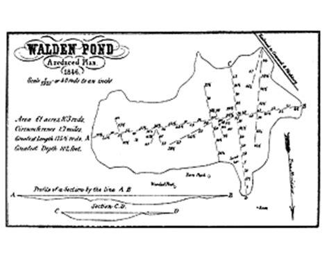 walden book excerpt surveying walden pond
