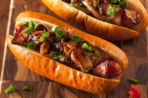 bacon wrapped dogs pit recipes