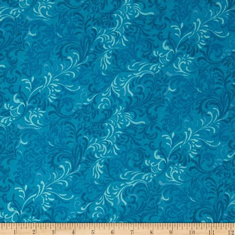 Wide Back Quilting Fabric by Essentials 108 Quot Wide Quilt Back Flourish Blue Discount Designer Fabric Fabric