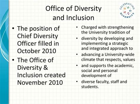 Office Of Diversity And Inclusion by Ppt Office Of Diversity And Inclusion Powerpoint