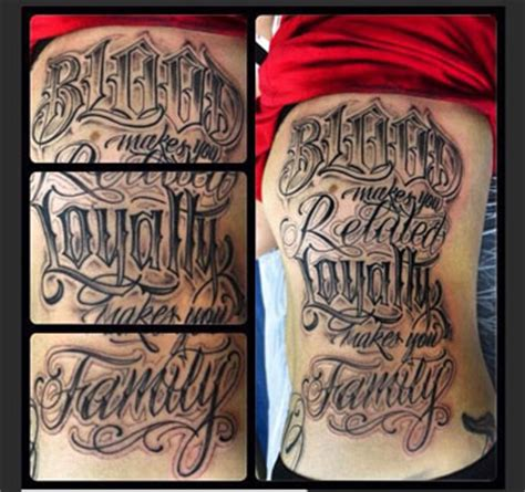 loyalty tattoo on face blood makes us related search