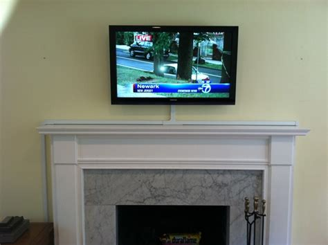 how to hide tv wires brick fireplace how should i run wiring for my above fireplace mounted tv