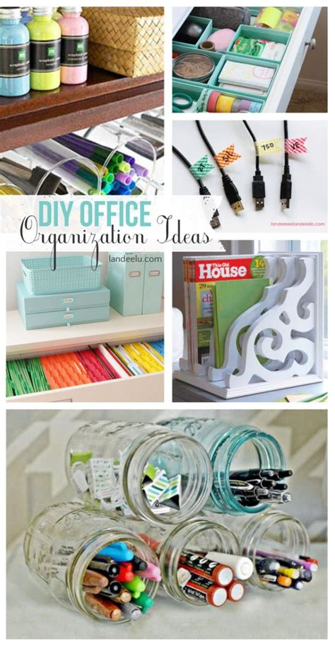 Desk Organization Ideas Diy Diy Office Organization Ideas Landeelu